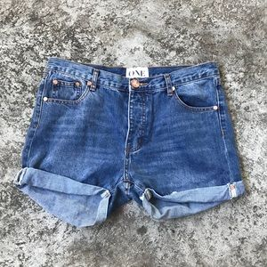 ONE by One Teaspoon Size 28 Denim Shorts
